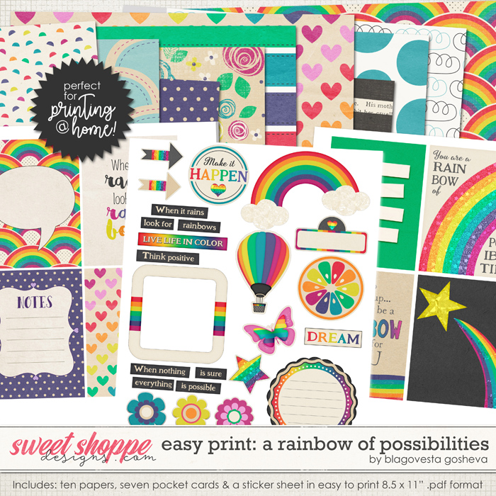 Easy Print: A Rainbow of Possibilities by Blagovesta Gosheva