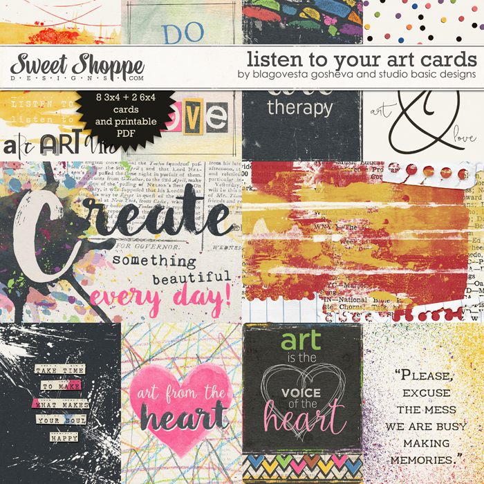 Listen to Your Art: Cards by Blagovesta Gosheva & Studio Basic Designs
