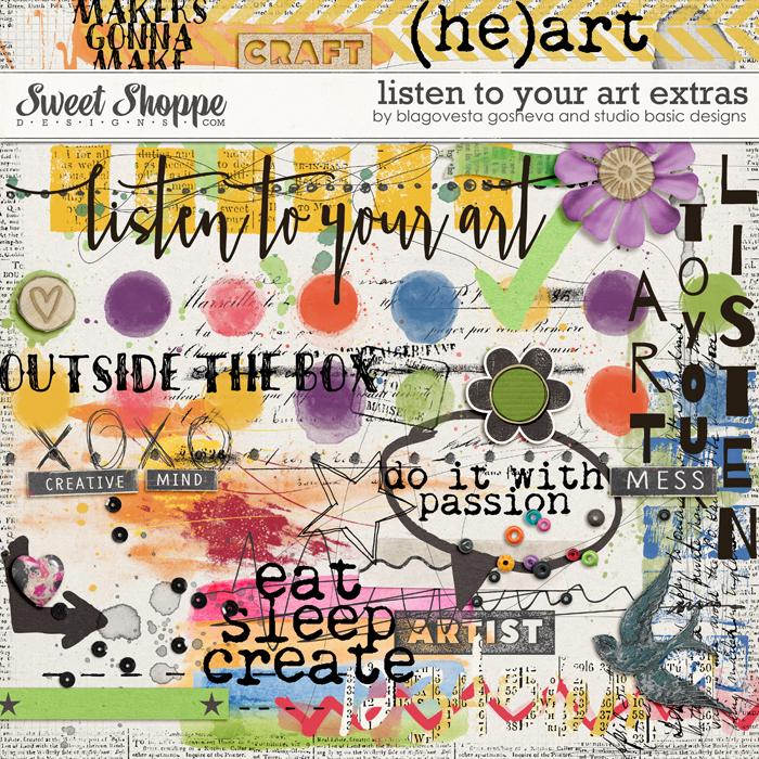 Listen to Your Art: Extras by Blagovesta Gosheva & Studio Basic Designs