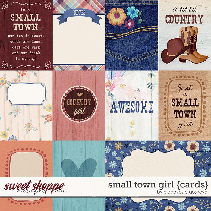 Small Town Girl {cards} by Blagovesta Gosheva