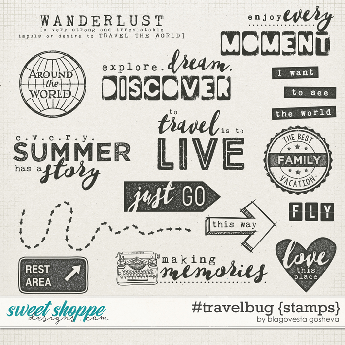 #travelbug {stamps} by Blagovesta Gosheva