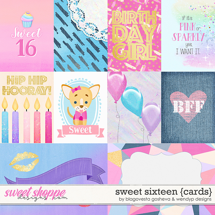Sweet 16 - Cards by Blagovesta Gosheva & WendyP Designs