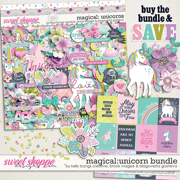 Magical: Unicorns - Bundle by Kelly Bangs Creative, Brook Magee & Blagovesta Gosheva