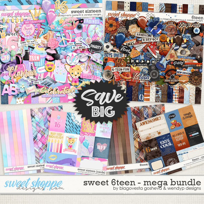 Sweet 6teen {mega bundle} by Blagovesta Gosheva & WendyP Designs