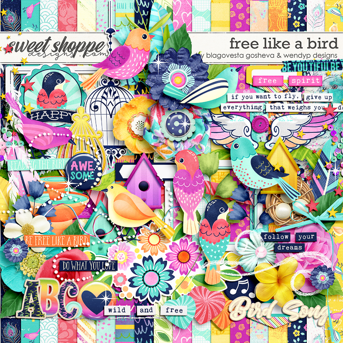 Free like a bird by Blagovesta Gosheva & WendyP Designs