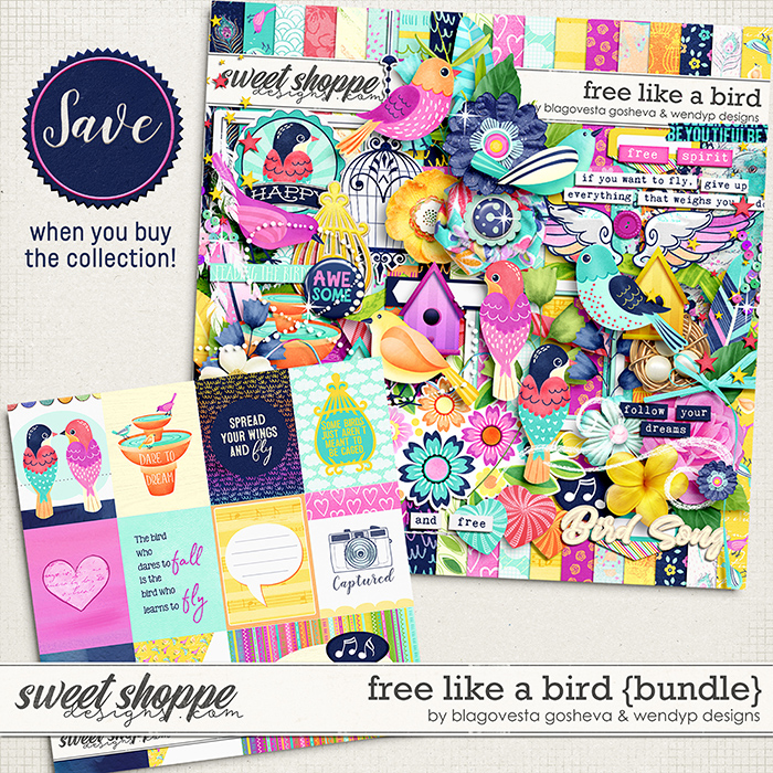 Free like a bird - Bundle by Blagovesta Gosheva & WendyP Designs