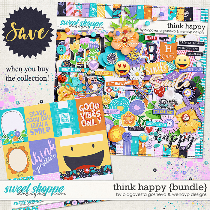 Think Happy -  Bundle by Blagovesta Gosheva & WendyP Designs
