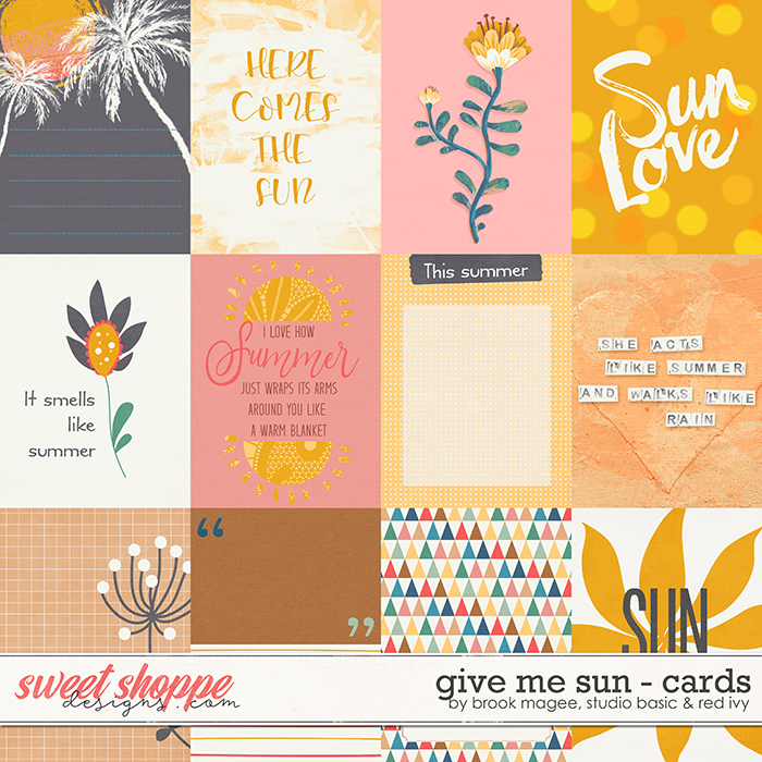 Give Me Sun Cards by Brook Magee, Red Ivy Design & Studio Basic Designs