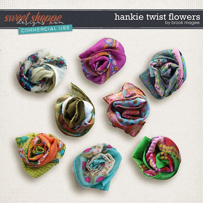 Hankie Twist Flowers - CU - by Brook Magee