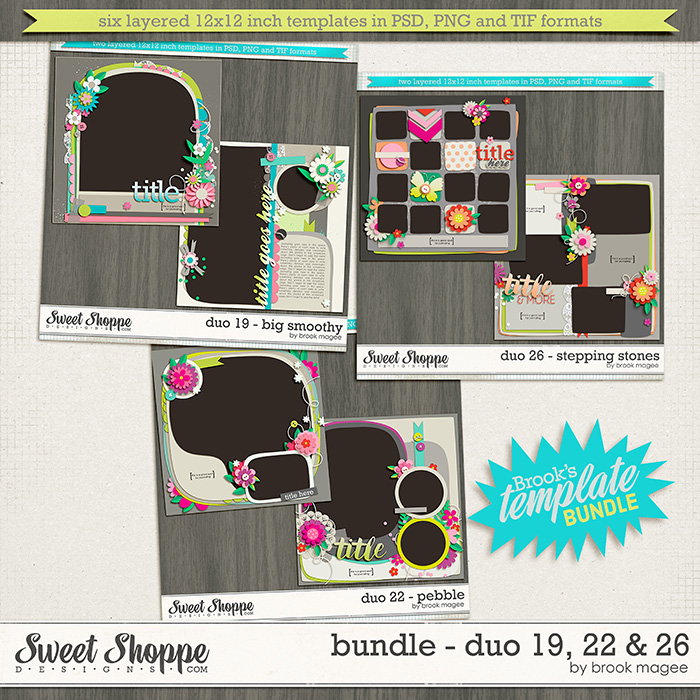 Brook's Templates - Bundle - Duo 19, 22 & 26  by Brook Magee