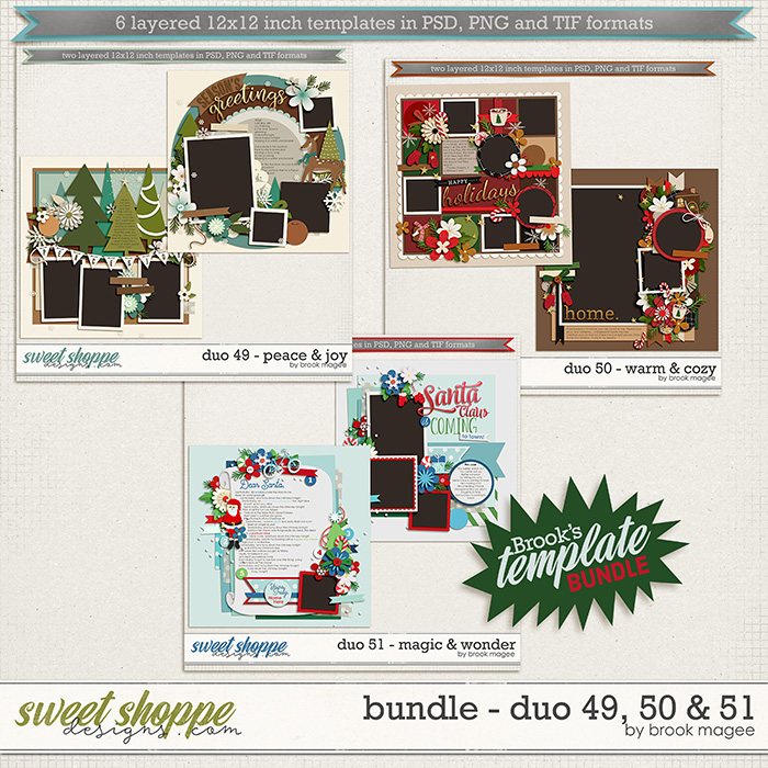 Brook's Templates - Bundle - Duo 49, 50 & 51 by Brook Magee