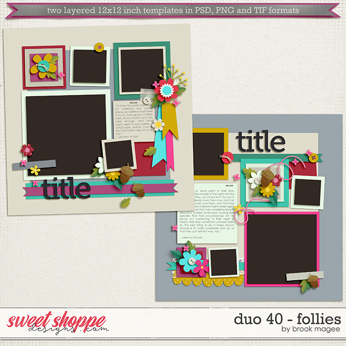 Brook's Templates - Duo 40 - Follies by Brook Magee