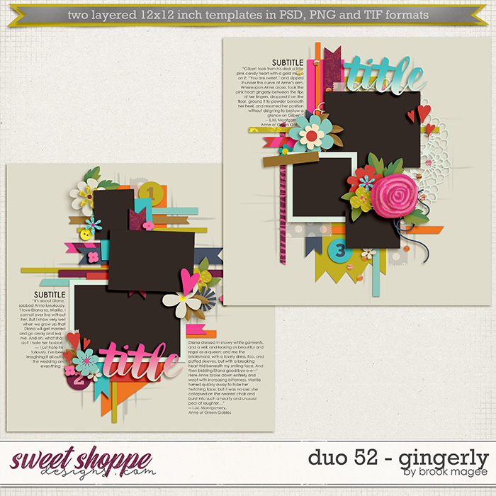 Brook's Templates - Duo 52 - Gingerly by Brook Magee