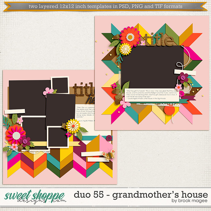 Brook's Templates - Duo 55 - Grandmother's House by Brook Magee
