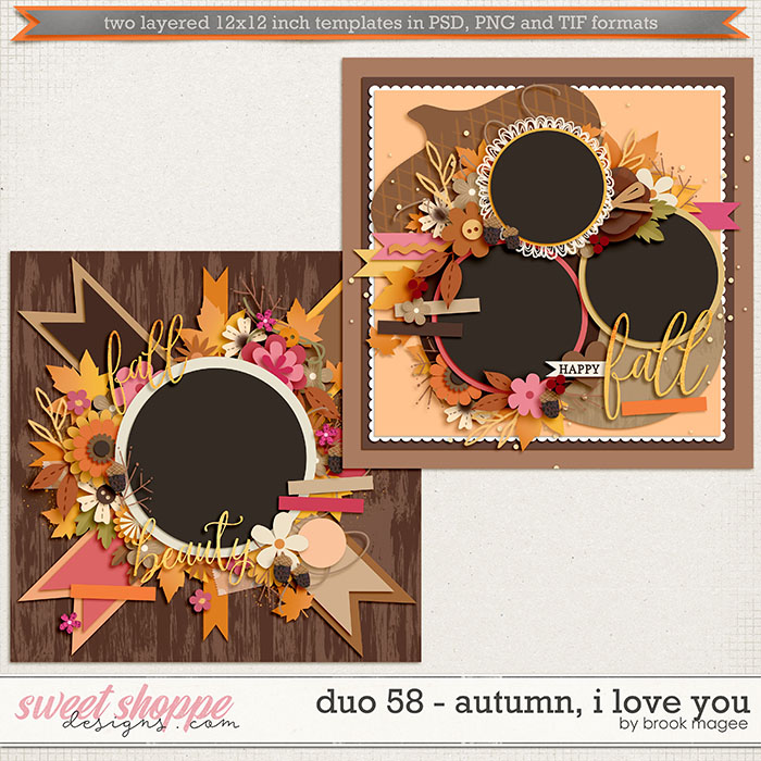 Brook's Templates - Duo 58 - Autumn, I Love You by Brook Magee