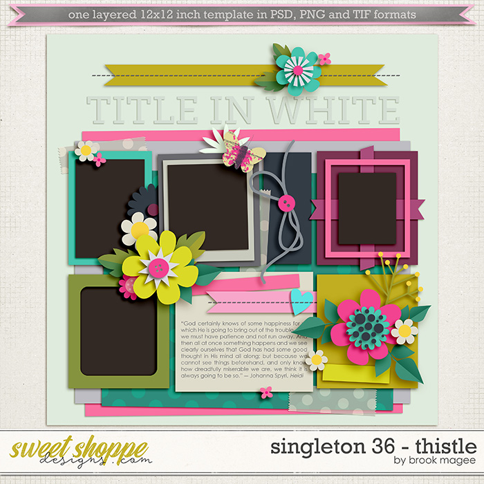 Brook's Templates - Singleton 36 - Thistle by Brook Magee