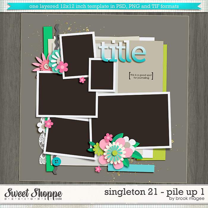 Brook's Templates - Singleton 21 - Pile Up 1 by Brook Magee
