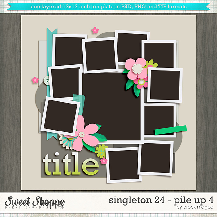 Brook's Templates - Singleton 24 - Pile Up 4 by Brook Magee