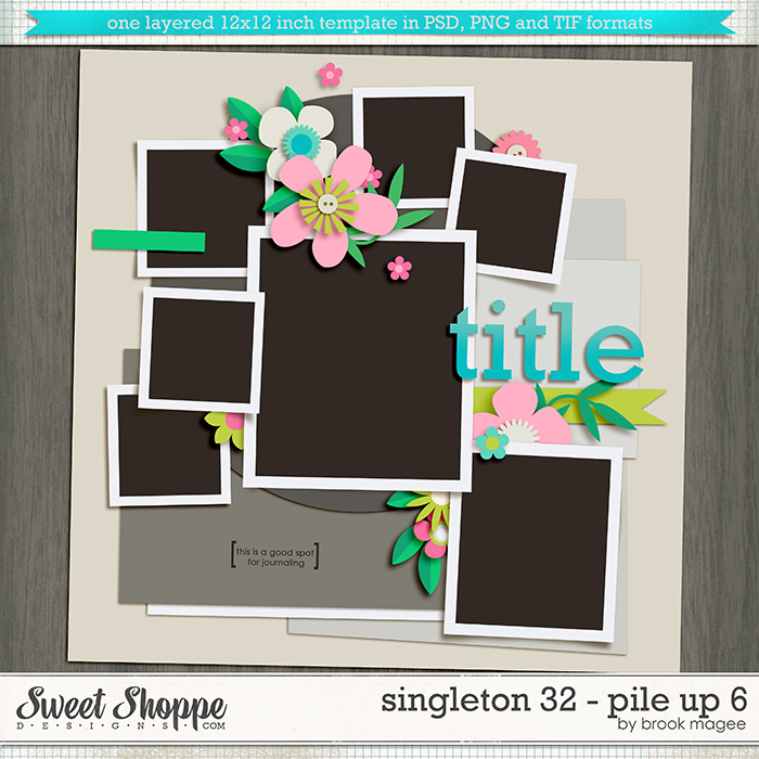 Brook's Templates - Singleton 32 - Pile Up 6 by Brook Magee