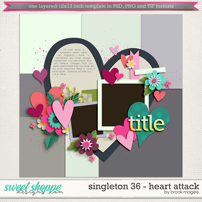 Brook's Templates - Singleton 36 - Heart Attack by Brook Magee