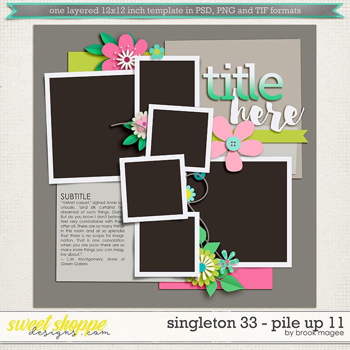 Brook's Templates - Singleton 43 - Pile Up 11 by Brook Magee