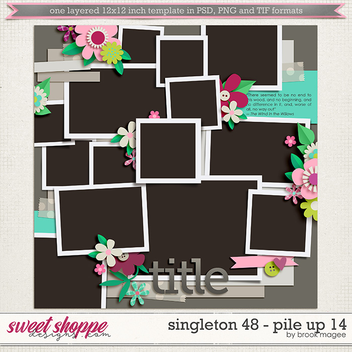 Brook's Templates - Singleton 48 - Pile Up 14 by Brook Magee