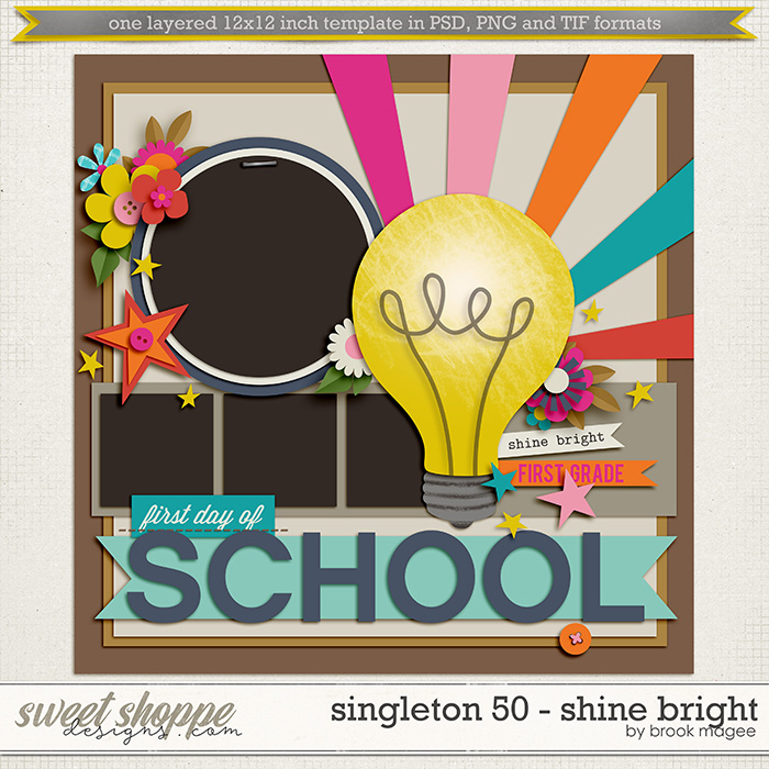 Brook's Templates - Singleton 50 - Shine Bright by Brook Magee