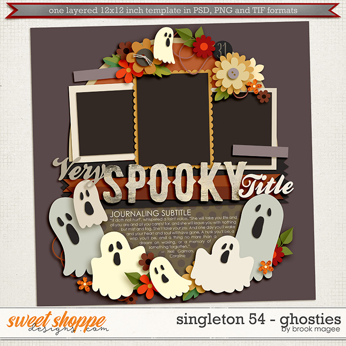 Brook's Templates - Singleton 54 - Ghosties by Brook Magee
