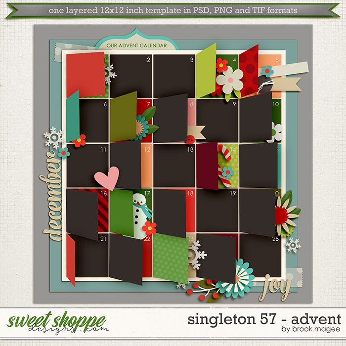 Brook's Templates - Singleton 57 - Advent by Brook Magee