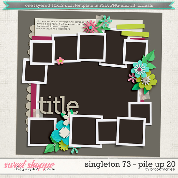 Brook's Templates - Singleton 73 - Pile Up 20 by Brook Magee