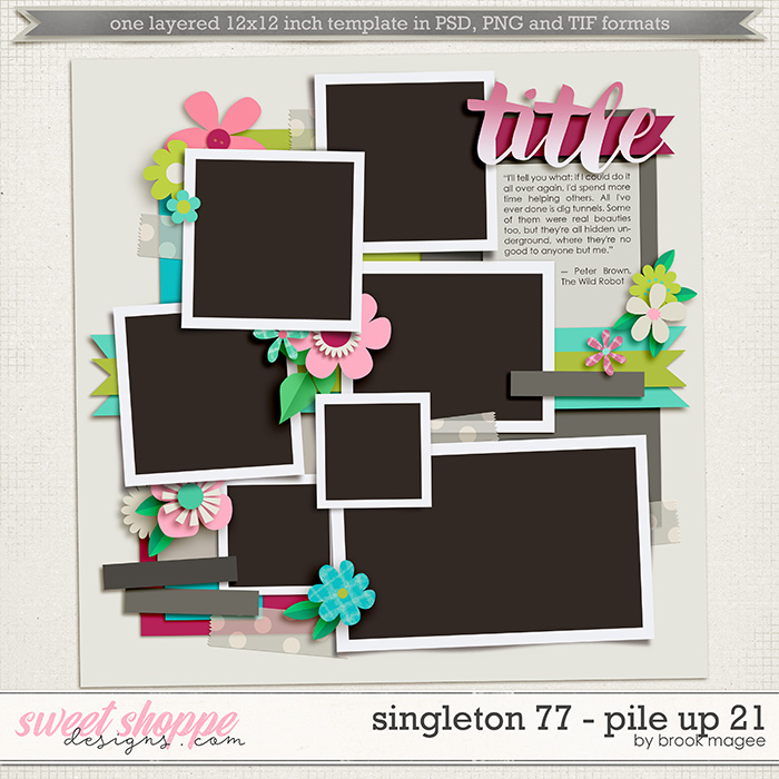 Brook's Templates - Singleton 77 - Pile Up 21 by Brook Magee