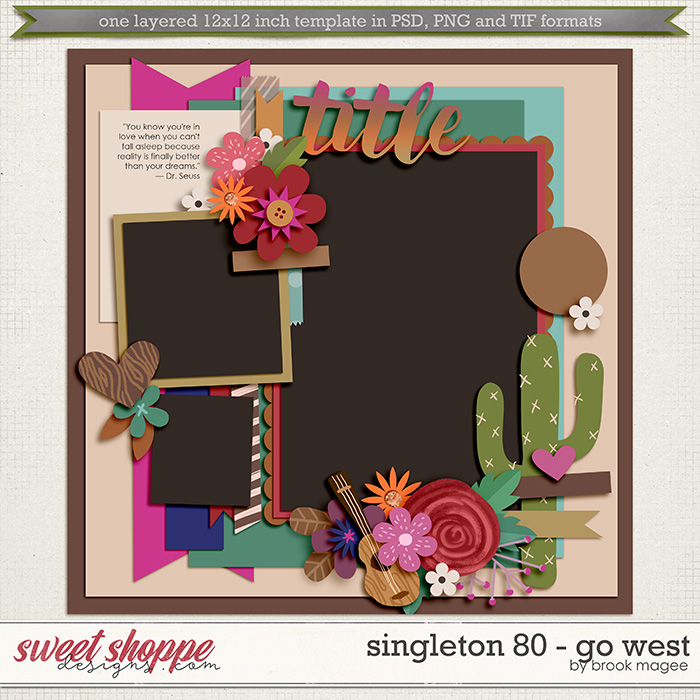 Brook's Templates - Singleton 80 - Go West by Brook Magee