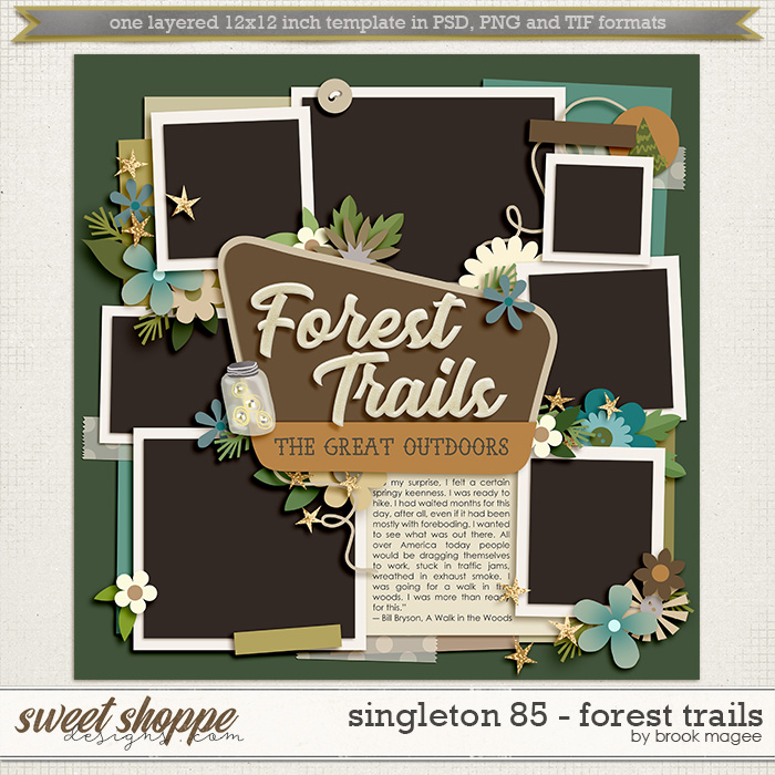 Brook's Templates - Singleton 85 - Forest Trails by Brook Magee