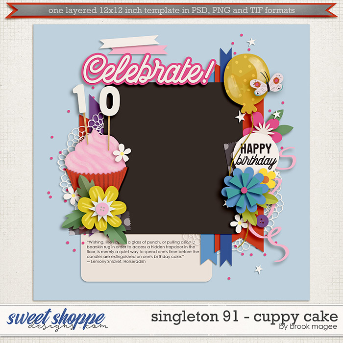 Brook's Templates - Singleton 91 - Cuppy Cake by Brook Magee