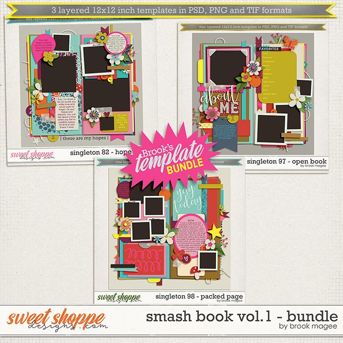 Brook's Templates - Smash Book Vol.1 - Bundle by Brook Magee