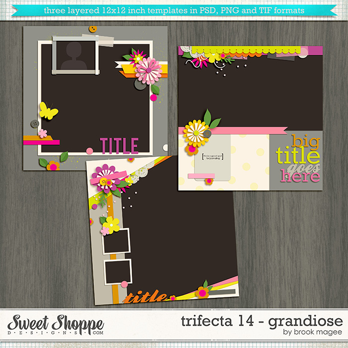 Brook's Templates - Trifecta 14 - Grandiose by Brook Magee