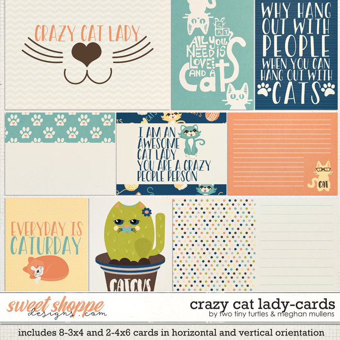 Crazy Cat Lady :: Cards by Meghan Mullens & Two Tiny Turtles