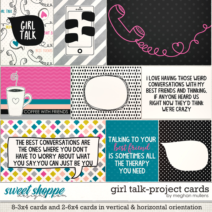 Girl Talk-Project Cards by Meghan Mullens