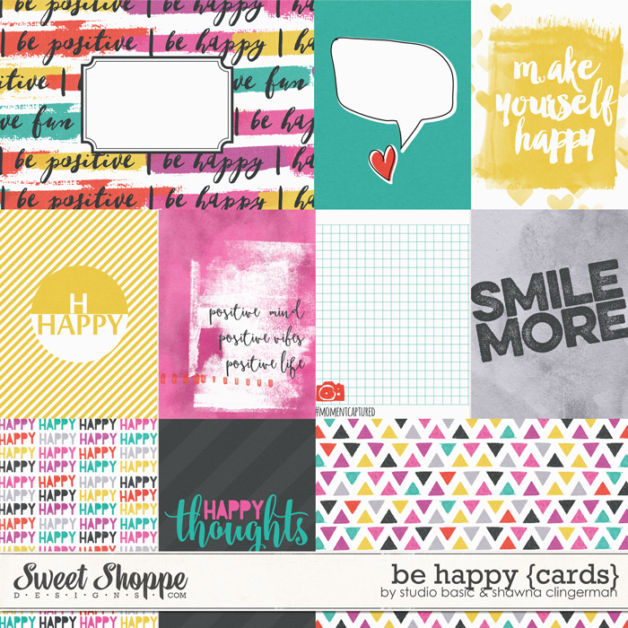 Be Happy {Cards} by Studio Basic and Shawna Clingerman