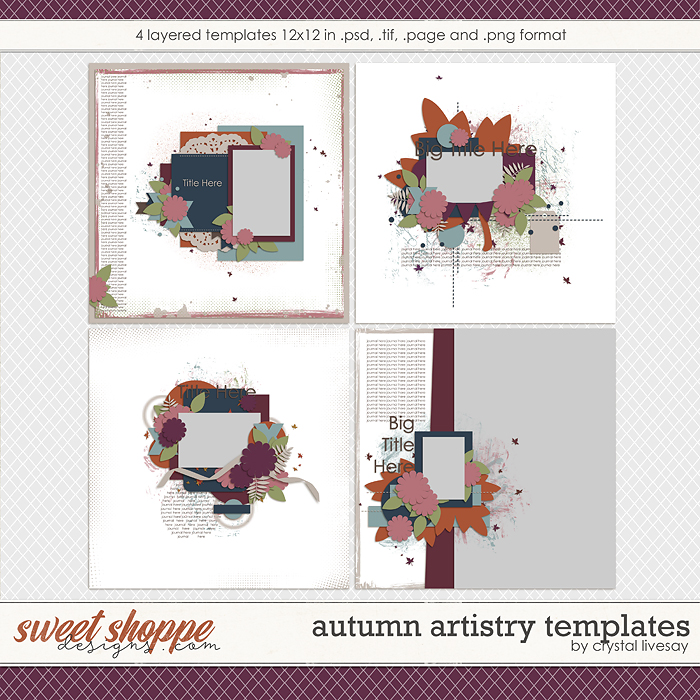 Autumn Artistry Templates by Crystal Livesay