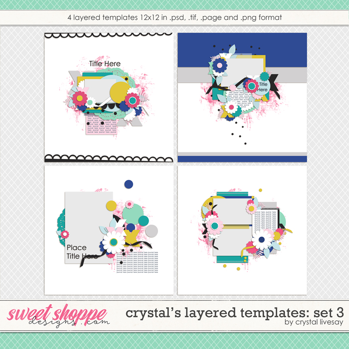 Crystal's Layered Templates Set 3 by Crystal Livesay