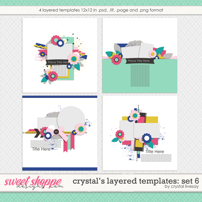 Crystal's Layered Templates Set 6 by Crystal Livesay