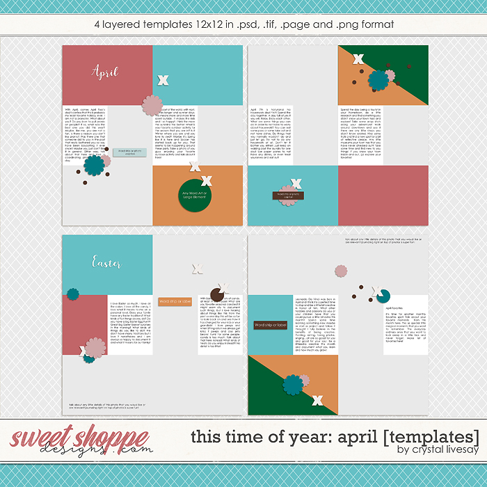This Time of Year: April [Templates] by Crystal Livesay