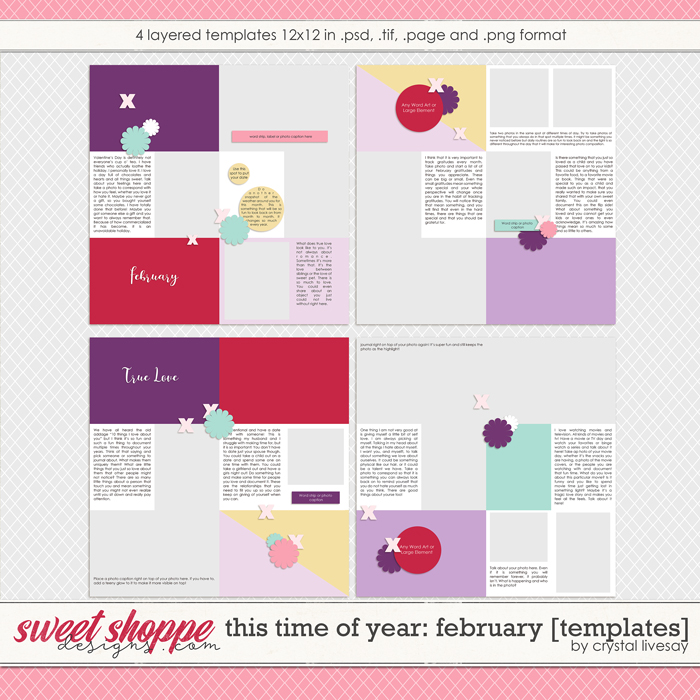 This Time of Year: February [Templates] by Crystal Livesay