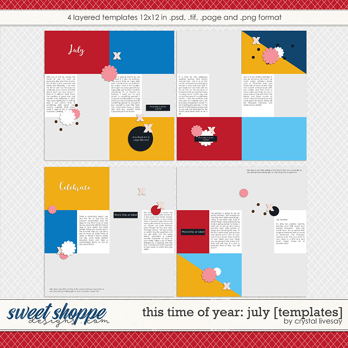 This Time of Year: July [Templates] by Crystal Livesay