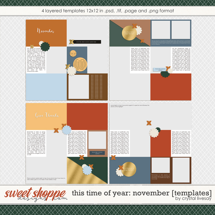 This Time of Year: November [Templates] by Crystal Livesay