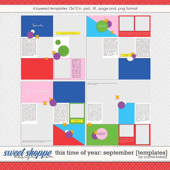 This Time of Year: September [Templates] by Crystal Livesay