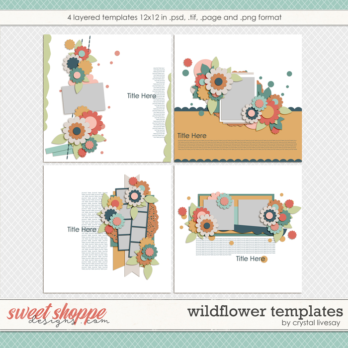 Wildflower Templates by Crystal Livesay