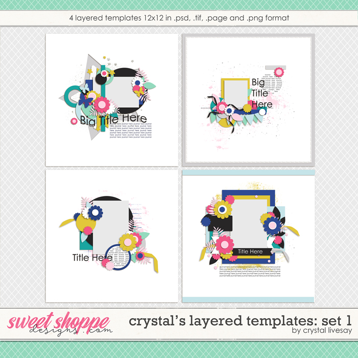 Crystal's Layered Templates Set 1 by Crystal Livesay