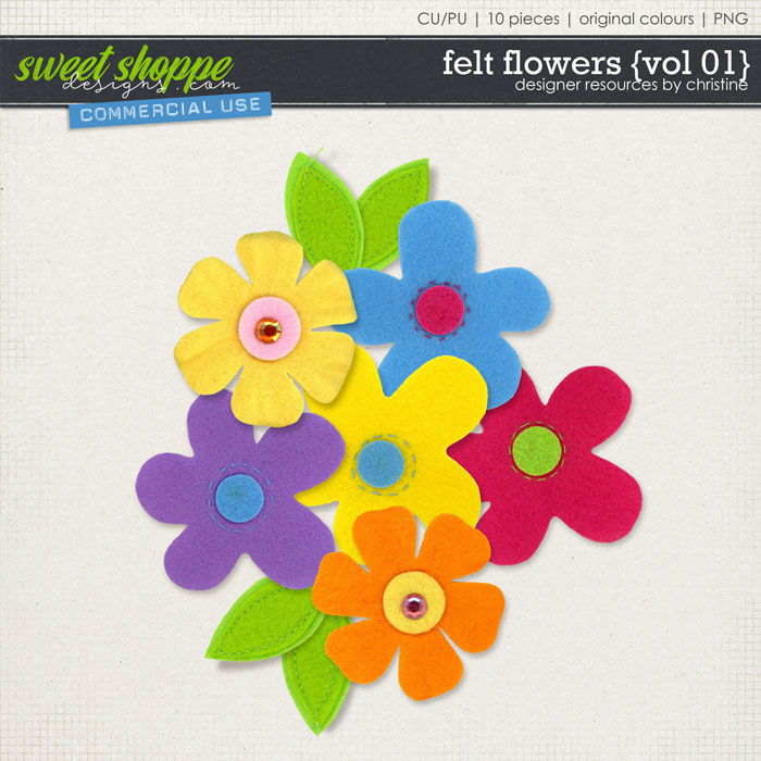 Felt Flowers {Vol 01} by Christine Mortimer